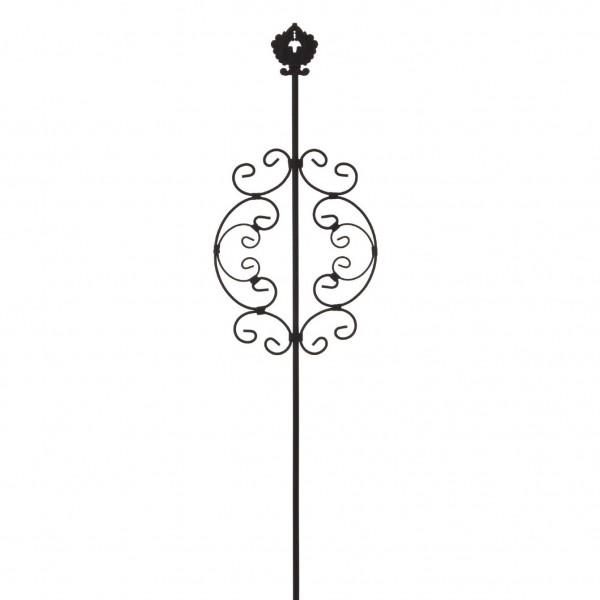 Steckeisen handgeschmiedet, schwarz, H 170 cm