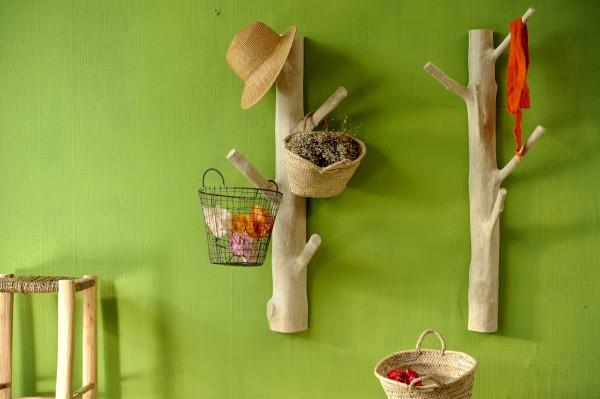 Garderobenbaum zum Aufhängen, natur, T 25 cm, B 25 cm, H 100 cm