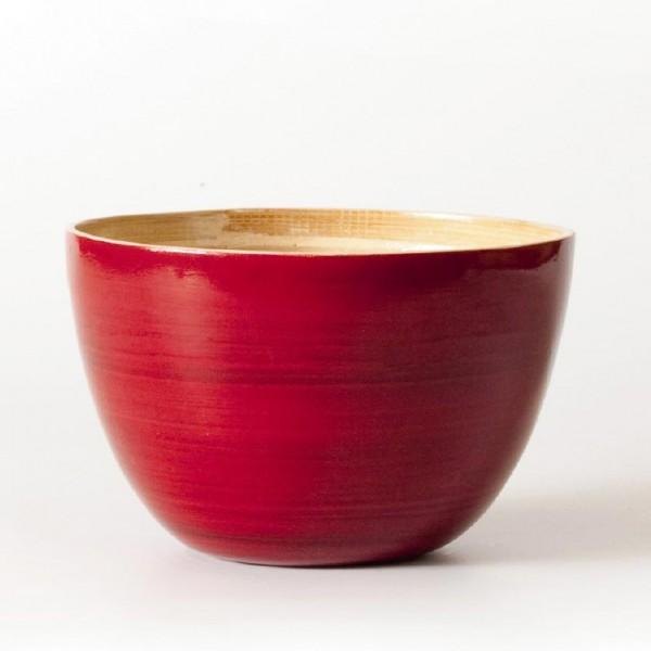 Bambusschale, rot, H 9,5 cm, Ø 14,5 cm