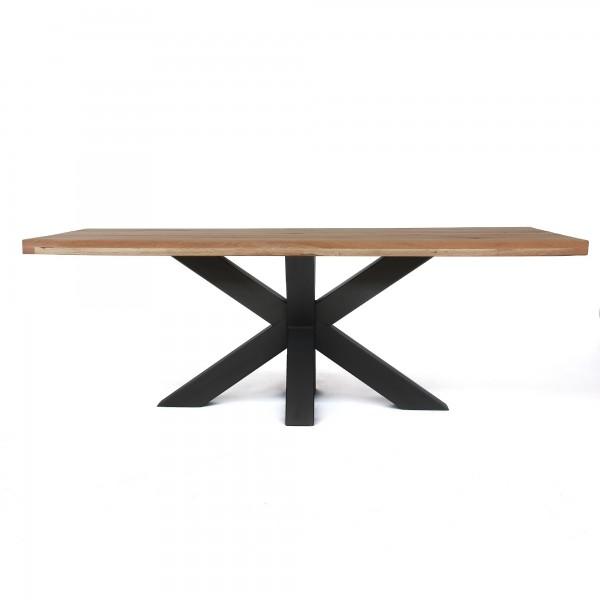 Esstisch 'Bendton', hellbraun, natur, T 100 cm, B 220 cm, H 78 cm