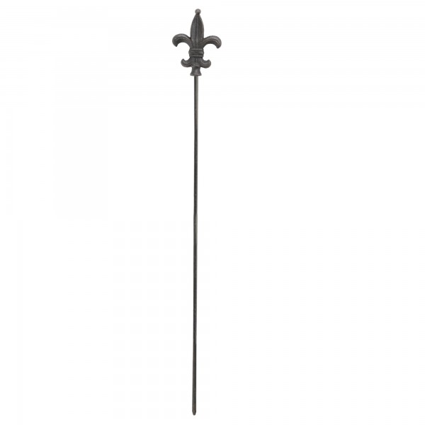 Gartenstecker 'Speer', dunkel, Ø 7 cm, H 112 cm