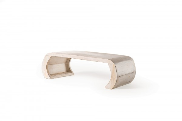 Beistelltisch 'Sangju S', geweißt, L 29 cm, B 58 cm, H 19 cm