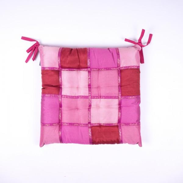 Kissen, rosa/rot, L 40 cm, B 40 cm