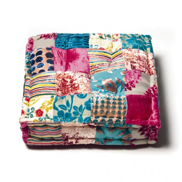 Sitzkissen, multicolor, L 40 cm, B 40 cm, H 10 cm