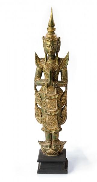 Buddhaskulptur stehend, aus Akazienholz, H 114 cm