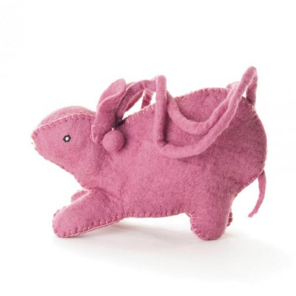 "Filztasche ""Hase"", rosa, B 30 cm, H 14 cm"