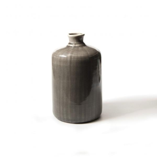 Vase 'Cesare', grau, H 30 cm, Ø 18 cm