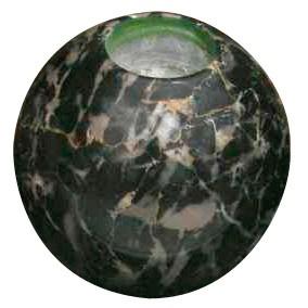 Teelichthalter aus Marmor, schwarz, H 10 cm, Ø 10 cm