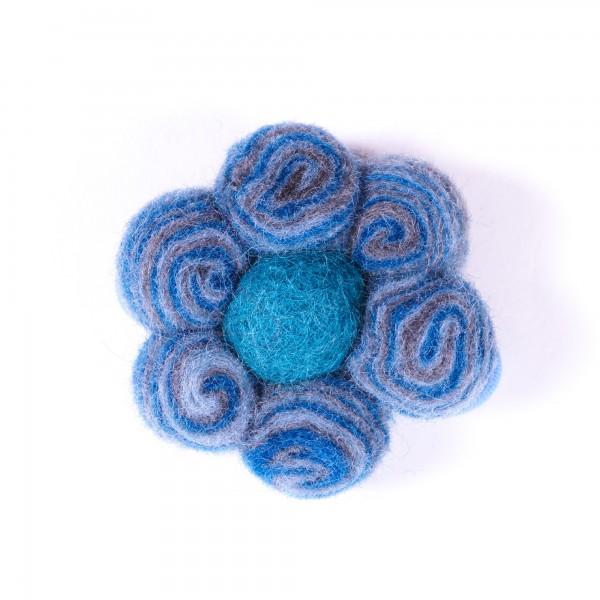 """Haarband """"Spiralball"""", aus Filz, blau"""