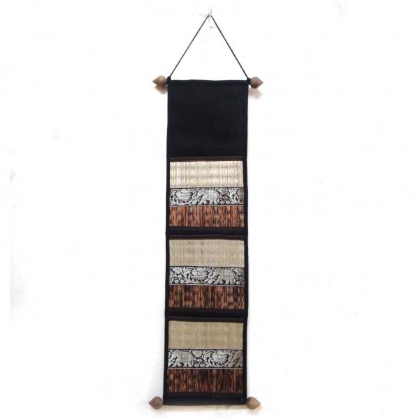 Wandorganizer, schwarz/braun, B 18 cm, H 69 cm