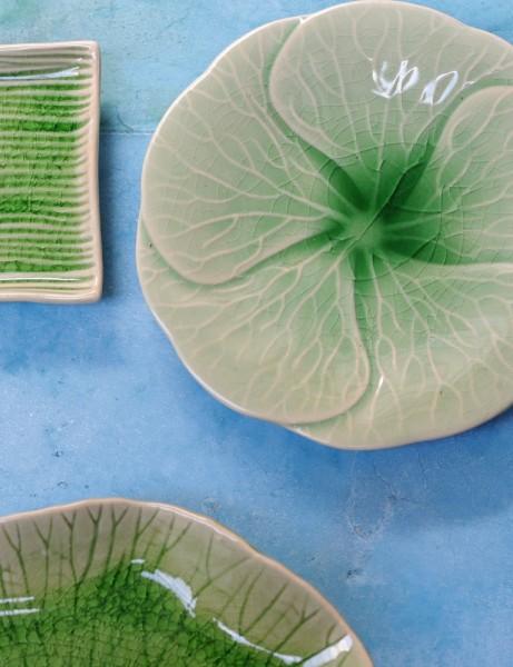 Teller 'Plumeria', grün, Ø 26 cm