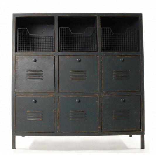 Schrank 'Industrial' mit 9 Schubladen, L 32 cm, B 83 cm, H 86 cm