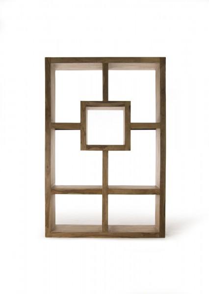 Regal 'Ystad 7 cube', braun, L 35 cm, B 120 cm, H 180 cm