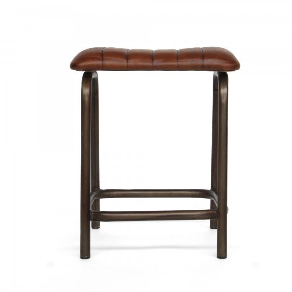 Hocker 'Moore', braun, schwarz, T 40 cm, B 42 cm, H 52 cm
