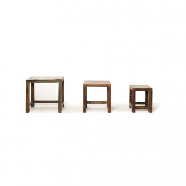 Set Beistelltisch 'Hove' aus Akazienholz, verschiedene Größen
