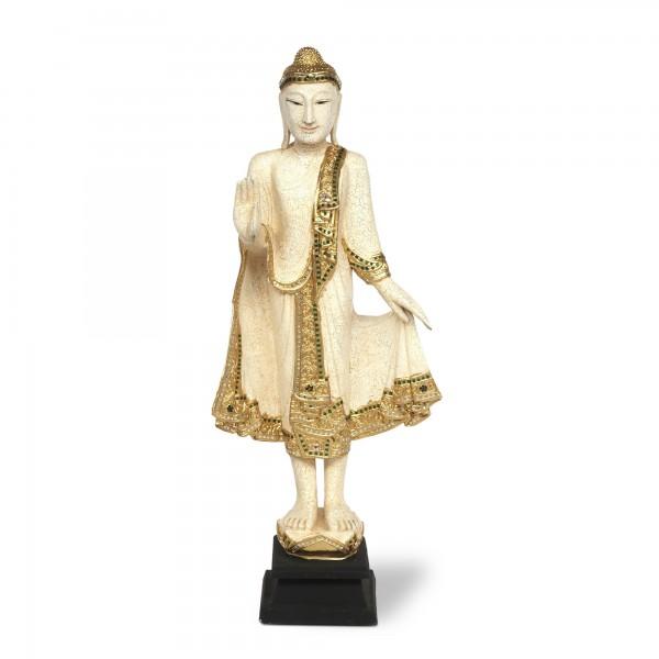Buddha stehend, T 25 cm, B 30 cm, H 115 cm