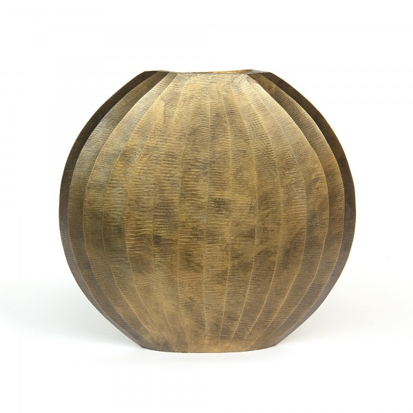 Vase 'Hycesia', messing, T 7 cm, B 29 cm, H 28 cm