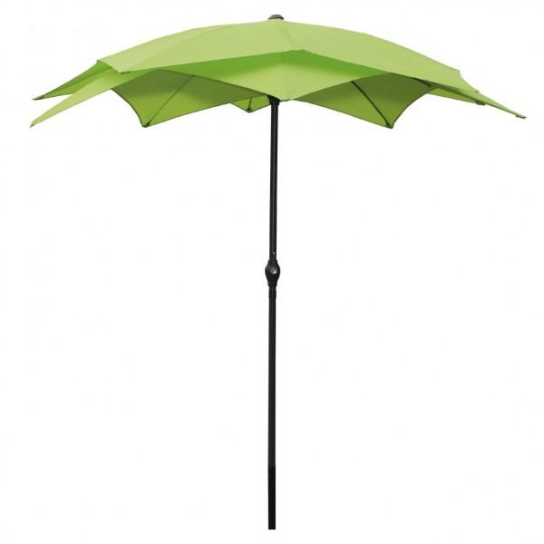"""Sonnenschirm """"Lotus"""" mit Handkurbel, grün, Ø 2,50 m"""