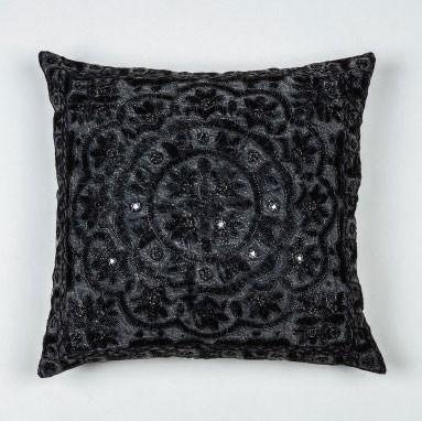 "Kissenhülle ""Mandala"", grau, L 40 cm, B 40 cm"