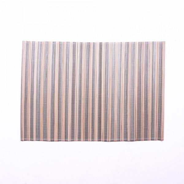 Tischset aus Bambus, schwarz, beige, L 33 cm, B 48 cm