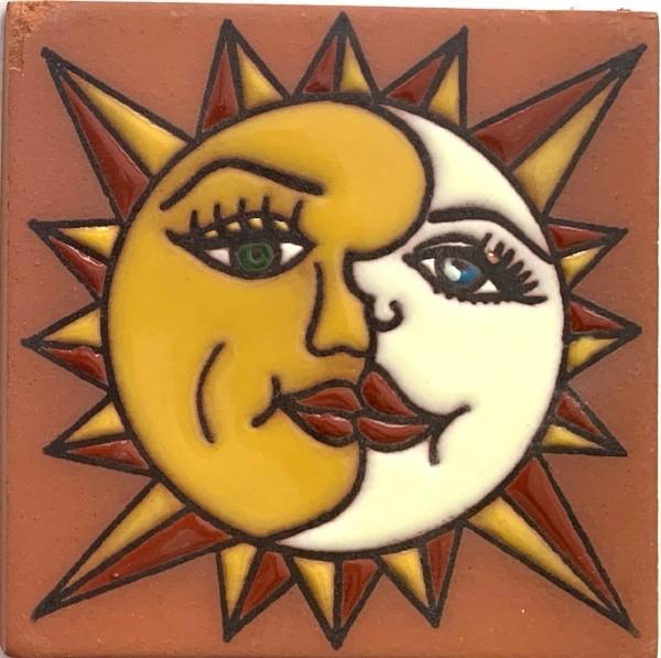 Reliefkachel 'Soluna', multicolor, T 10 cm, B 10 cm, H 0,5 cm