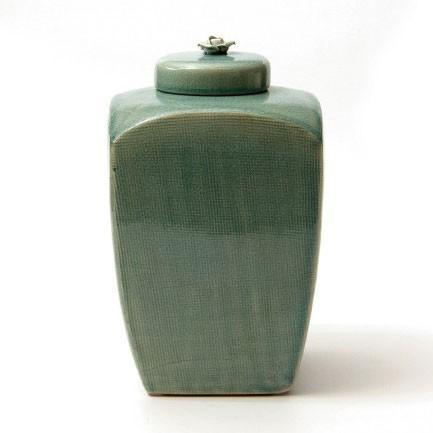 "Deckelgefäß ""Vase Sui"", L 15 cm, B 15 cm, H 25 cm"