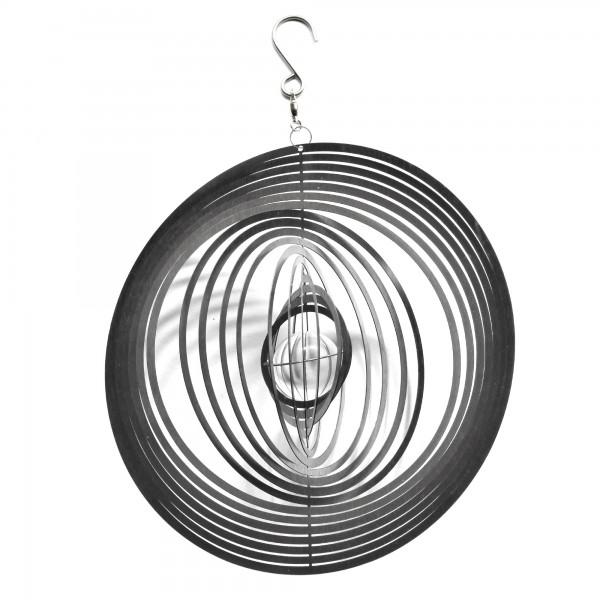 Windspiel rund , silber, T 4 cm, B 22 cm, H 22 cm