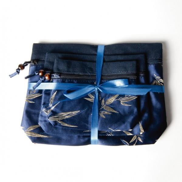 Schmuckbeutelset 'Hai Lan', blau