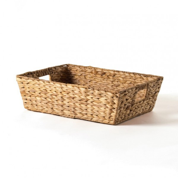 Korb mit Griffen, natur, L 24 cm, B 34 cm, H 8 cm