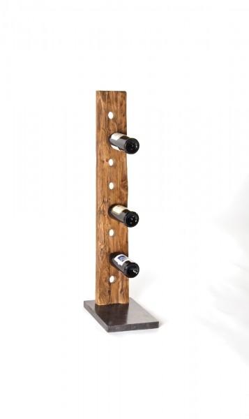 Weinständer mit Marmorfuß, braun/schwarz, T 35 cm, B 24 cm, H 100 cm
