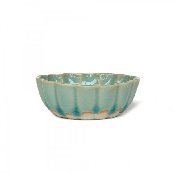 Schale 'Seerose', blau, Ø 7 cm, H 3 cm