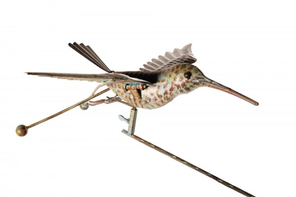 "Windpendler ""Kolibri Klaus"", rostbraun, L 38 cm, B 46 cm, H 115 cm"