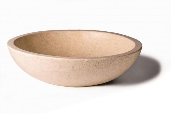 Waschbecken 'Terrazzo' rund, weiß, Ø 44 cm, H 13 cm