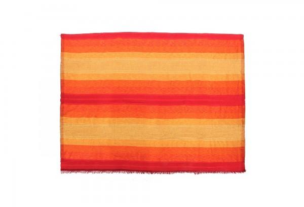 Decke aus Sabra 'Sunset', rot, gelb, T 300 cm, B 200 cm