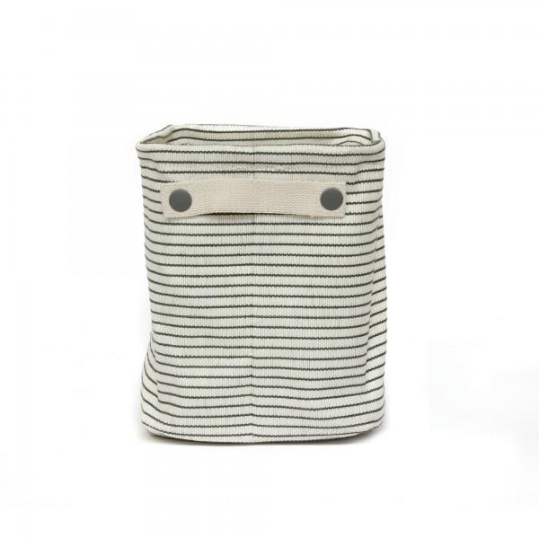 Aufbewahrungskorb 'Lokeren' M, creme, grau, T 22 cm, B 32 cm, H 26 cm
