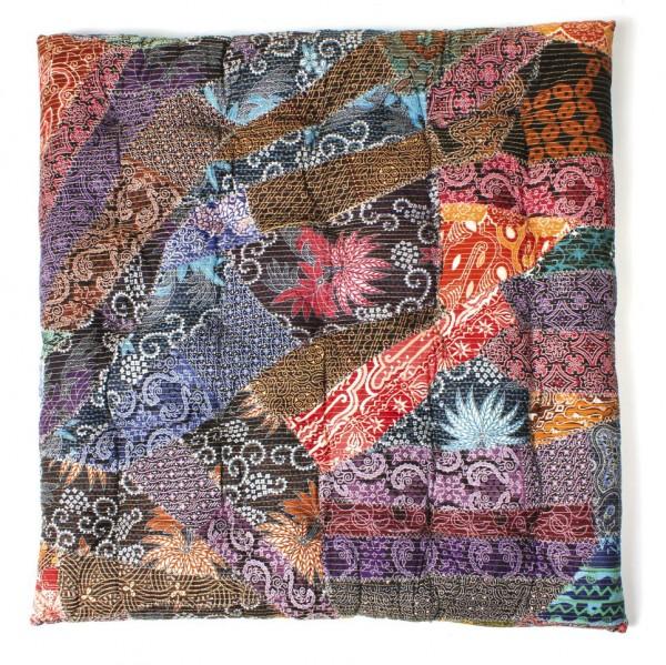 gesteppte Sitzkissen, multicolor, L 80 cm, B 80 cm, H 7 cm