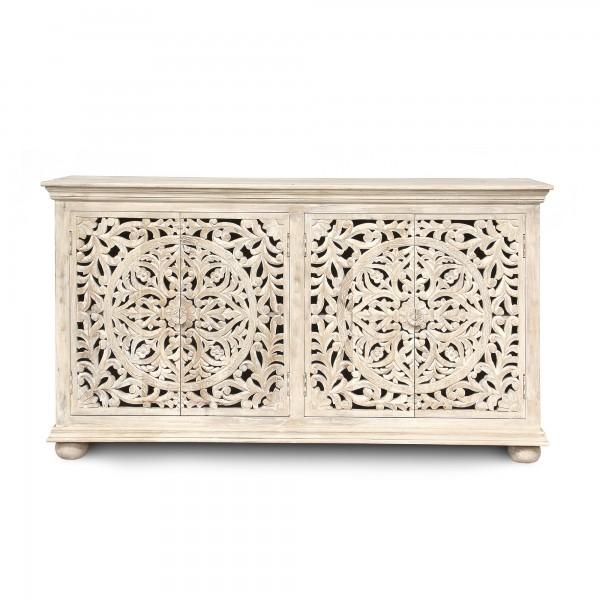 Sideboard 'Bholi', weiß, T 43 cm, B 178 cm, H 98 cm