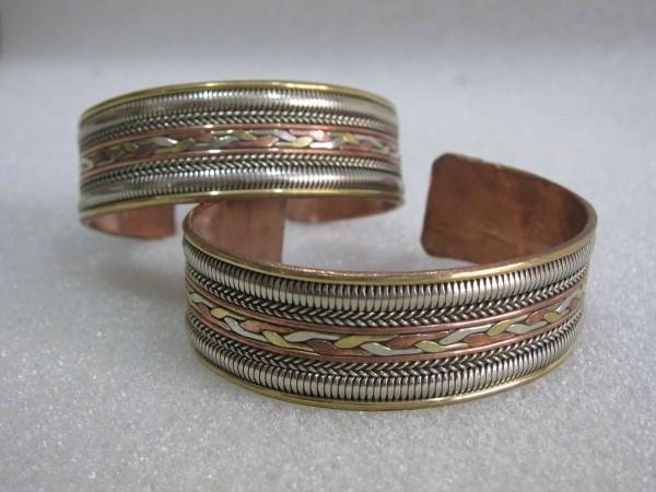 Armband 'Nevio', weißmetal, B 16,5 cm, H 2 cm