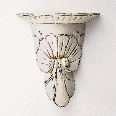 "Konsole ""Giotto"", antik-weiß, L 20 cm, B 10 cm, H 21 cm"