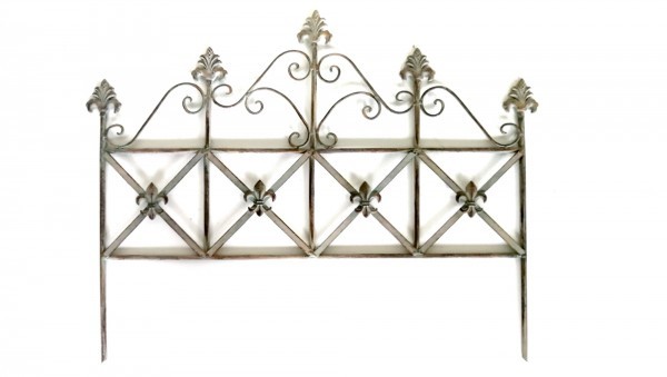 Rankgitter 'Raboulle', silber, beige, T 2 cm, B 68 cm, H 54 cm