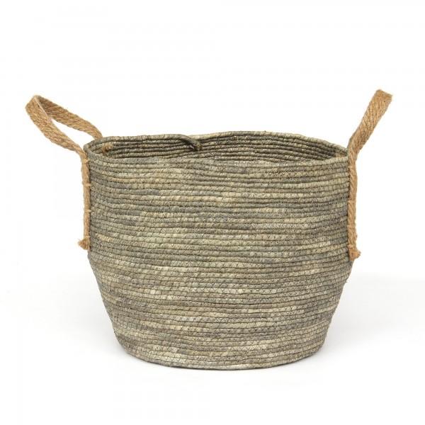 Korb 'Amatrice' L, schwarz, braun, Ø 32 cm, H 26 cm