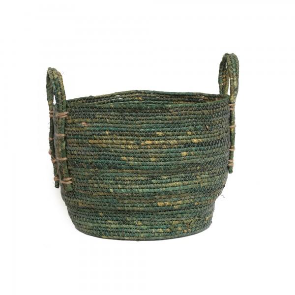 Korb 'Nonna' M, grüngrau, Ø 30 cm, H 25 cm