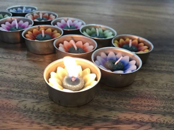 10er Teelichter-Set 'Sunflower-Mix', multicolor