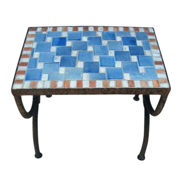 """Mosaiktisch """"Echec"""", blau, L 30 cm, B 40 cm, H 37 cm"""