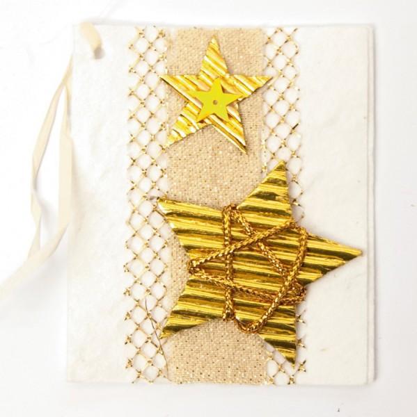 Geschenkkarte, weiß/gold, H 7,5 cm, B 6 cm