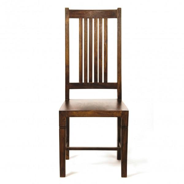 Stuhl, braun, T 43 cm, B 45 cm, H 110 cm