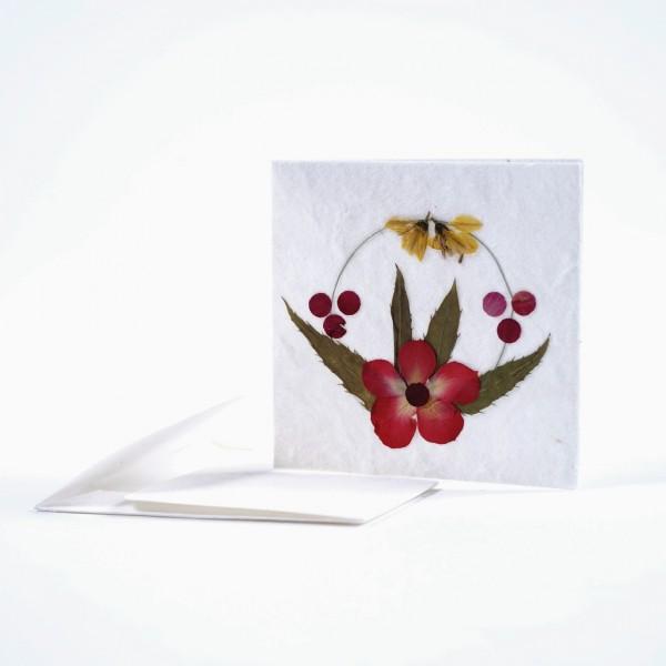 Blumenkarte, mit Umschlag, B 7 cm, H 7 cm