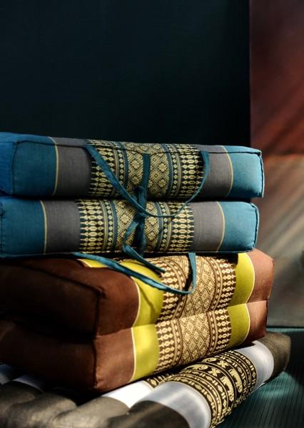 Yogakissen, faltbar, grün, braun, T 40 cm, B 20 cm, H 15 cm