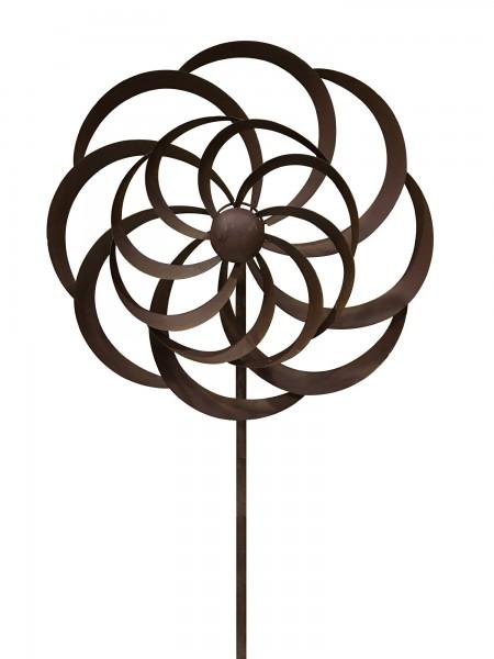 Windrad 'Helene', braun, Ø 45 cm, H 202 cm