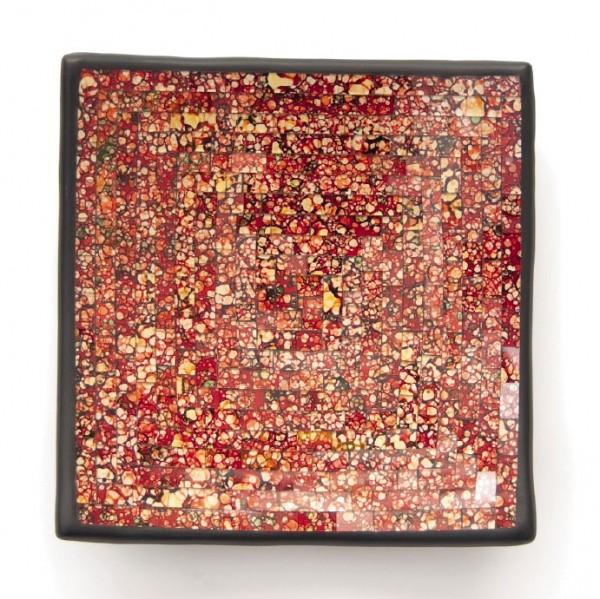 """Glasmosaikschüssel """"Chili"""", rot, L 20 cm, B 20 cm"""